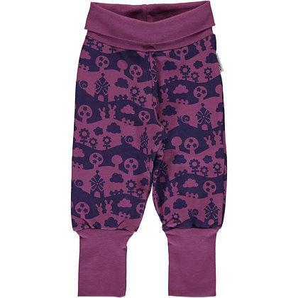 MAXOMORRA organic Rib Pants Sweat | Purple Landscape