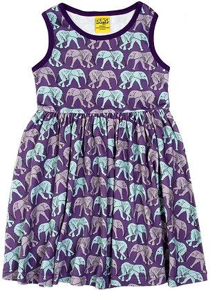 DUNS Sweden organic Sleeveless Dress Elephant Walk | Purple