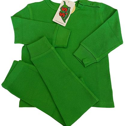 Slugs&Snails organic Waffle Cotton Set | Classic Green
