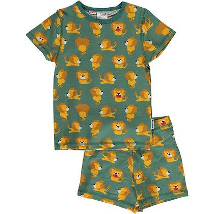 MAXOMORRA organic Pyjama Set Short Sleeve | Lion