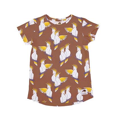MULLIDO organic Short Sleeve Top | Brown Cockatoo