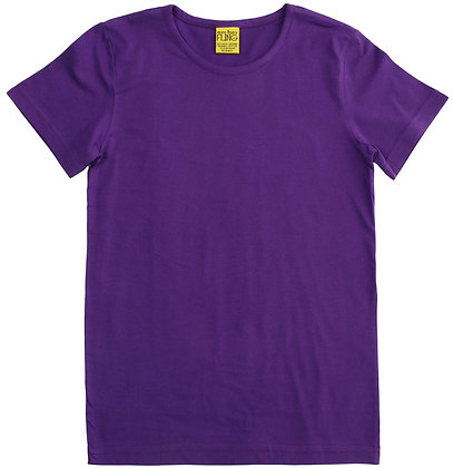 DUNS More Than a Fling organic Short Sleeve Top   Purple