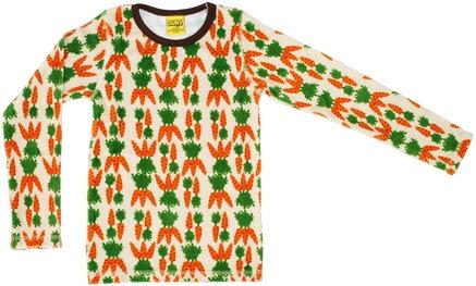 DUNS Sweden organic Long Sleeve Top | Carrot (VELOUR)