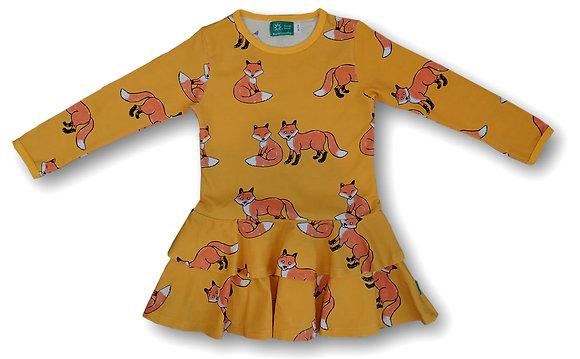 NAPERONUTTU organic Long Sleeve Frill Dress | Fox