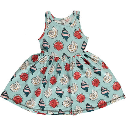 MAXOMORRA organic Sleeveless Dress Spin | Seashell