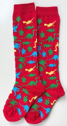 SLUGS & SNAILS Adult Knee High Socks | Dino