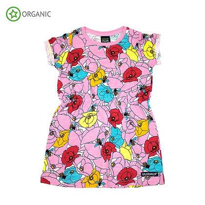 VILLERVALLA organic Short Sleeve Dress Poppy   Riviera
