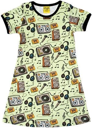 DUNS Sweden organic Short Sleeve Dress   Music