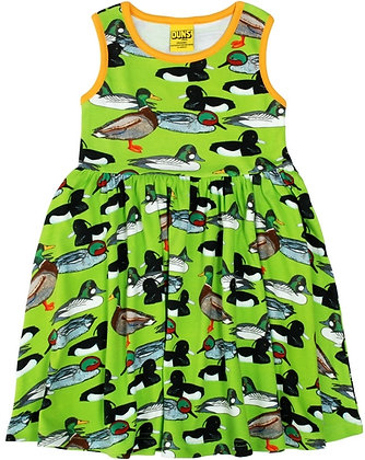 DUNS Sweden organic Sleeveless Dress Duck Pond | Flash Green
