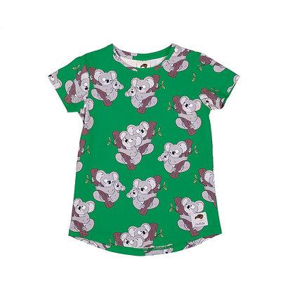 MULLIDO organic short Sleeve Top | Green Koala