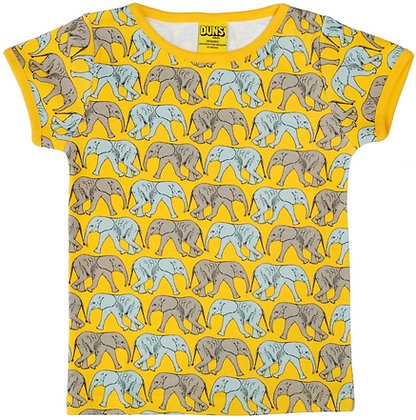 DUNS Sweden organic Short Sleeve Top Elephant Walk | Yellow
