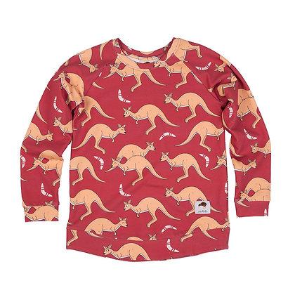 MULLIDO organic Sweatshirt | Red Kangaroo