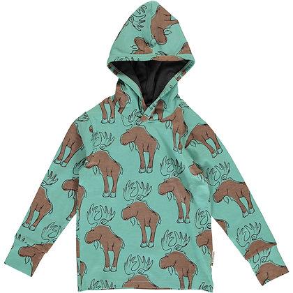 MAXOMORRA organic Long Sleeve Top with Hood | Mighty Moose