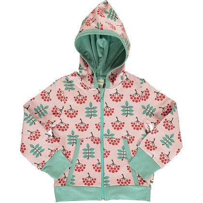 MAXOMORRA organic Cardigan Hood | Ruby Rowanberry
