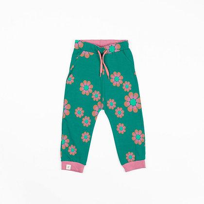 ALBA of Denmark Lucca Baby Pants | Alpine Green Flower