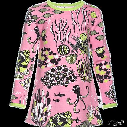 PaaPii VIENO organic Long Sleeve Tunic, Myyry the Diver | Light Pink & Apple
