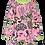 Thumbnail: PaaPii VIENO organic Long Sleeve Tunic, Myyry the Diver | Light Pink & Apple