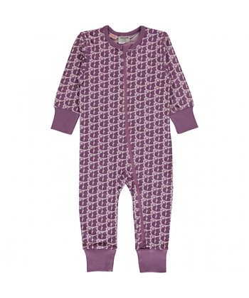 MAXOMORRA organic Long Sleeve Rompersuit with Zip | Squirrel