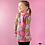 Thumbnail: PaaPii VIENO organic Long Sleeve Tunic, Seasons | Pink & Yellow