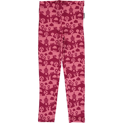 MAXOMORRA organic Leggings Sweat | Pink Landscape
