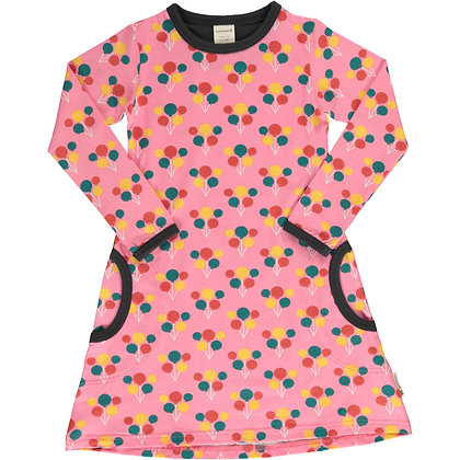 MAXOMORRA organic Long Sleeve Dress | Party Balloon