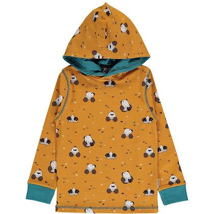 MAXOMORRA organic Long Sleeve Top with Hood | Mole