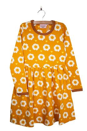 MOROMINI organic Long Sleeve Dress | 70's Flower