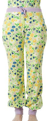 DUNS of Sweden organic Adult Baggy Pants Midsummer Flowers   Green