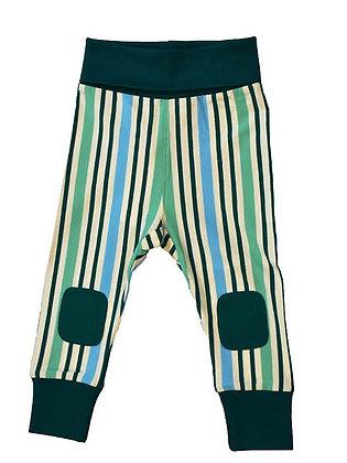 MOROMINI organic Baby Pants | Blue Stripes