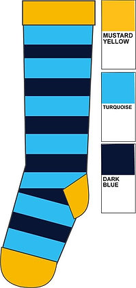 Duns organic Knee High Socks  Stripe, Blue