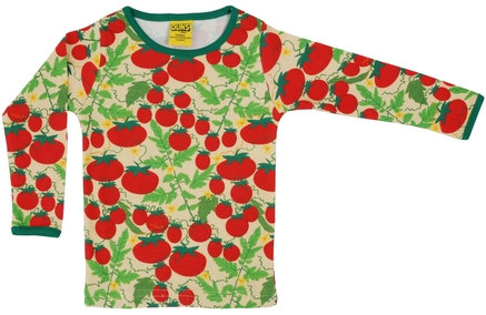 DUNS Sweden organic Long Sleeve Top Growing Tomatoes   Pale Yellow