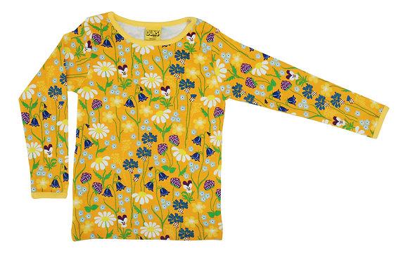 DUNS Sweden organic Long Sleeve Top Midsummer Flowers | Yellow