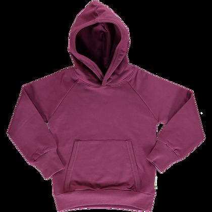 MAXOMORRA organic Long Sleeve Hoodie SWEAT | Plum