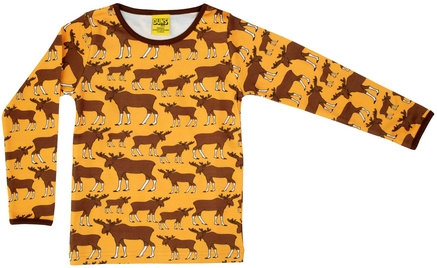 DUNS Sweden organic Long Sleeve Top Moose | Mustard