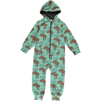 MAXOMORRA organic One Piece Suit with Hood | Mighty Moose