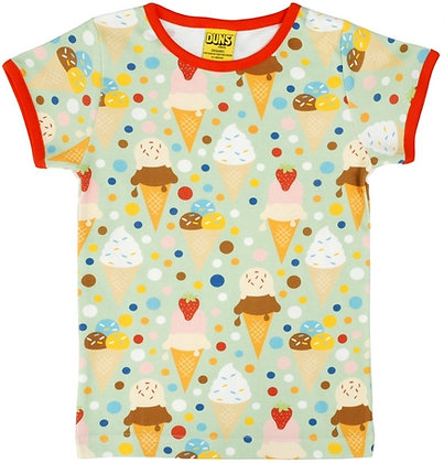 DUNS Sweden organic Short Sleeve Top Ice Cream | Postage