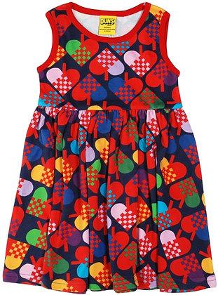 DUNS Sweden organic Sleeveless Dress Hearts | Dark Blue