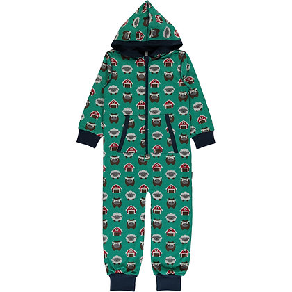 MAXOMORRA organic One Piece Suit with Hood | Farm