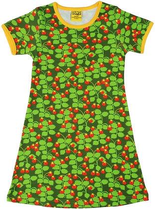 DUNS Sweden organic Adult Short Sleeve Dress   Wild Strawberries