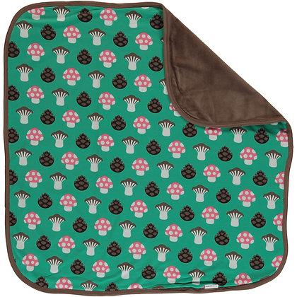 MAXOMORRA organic Blanket (Velour Backing) | Mushroom