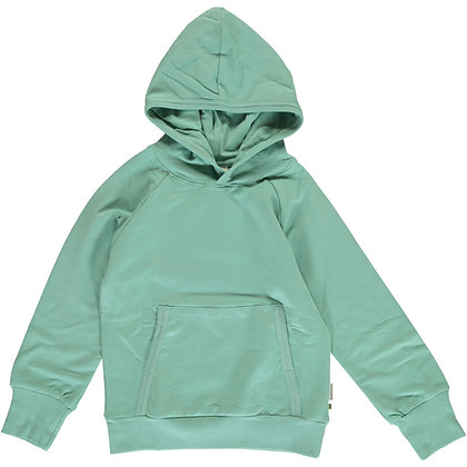 MAXOMORRA organic Long Sleeve Hoodie SWEAT | Soft Teal