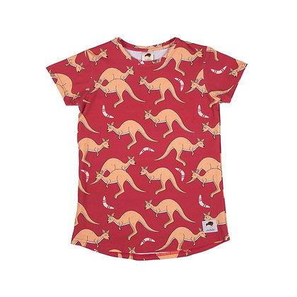 MULLIDO organic Short Sleeve Top | Red Kangaroo