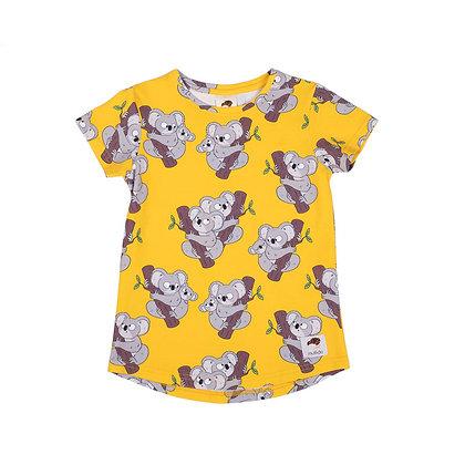 MULLIDO organic short Sleeve Top | Yellow Koala