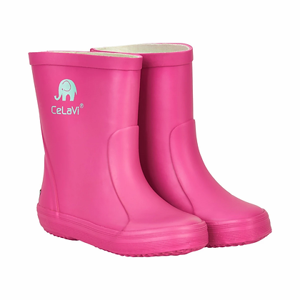 CeLaVi Natural Rubber Rain Boots | Real Pink