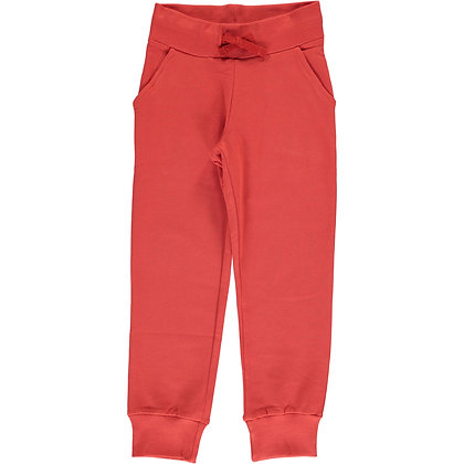 MAXOMORRA organic Sweatpants | Rusty Red
