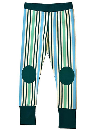 MOROMINI organic Leggings | Blue Stripes