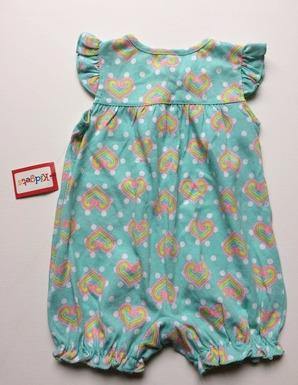 Thumbnail: KIDGETS PreLoved turquoise romper   9-12 months