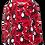 Thumbnail: PaaPii NOOA organic Long Sleeve Top, Nuutti | Red