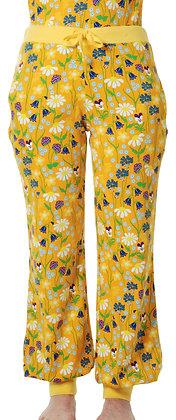DUNS of Sweden organic Adult Baggy Pants Midsummer Flowers   Yellow