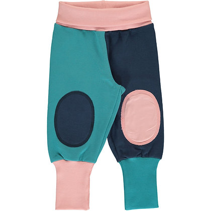 MAXOMORRA organic Rib Pants Sweat | Block Multi Snow